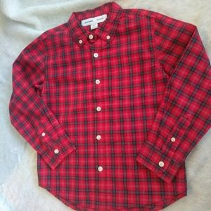 Old Navy| Red and Navy Plaid Button Down Shirt NWT